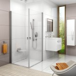 Drzwi prysznicowe CRV1-90 Ravak CHROME 1QV70U01Z1 satyna + transparent