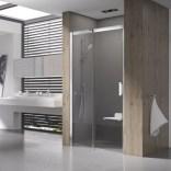Drzwi prysznicowe MSD2-110 L Ravak MATRIX 0WLD0100Z1 białe + transparent