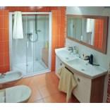 Drzwi prysznicowe 100x190 cm NRDP2 L białe+transparent Ravak RAPIER 0NNA010LZ1