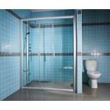 Drzwi prysznicowe 130x190 cm NRDP4 białe+transparent Ravak RAPIER 0ONJ0100Z1