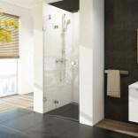 Drzwi prysznicowe, dwuczęściowe 80x195 R profil chrom, szkło transparent Ravak BRILLIANT 0UP4AA00Z1