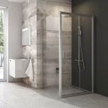 Drzwi prysznicowe przesuwne 117x121x190 cm profil satynowy szkło grape Ravak BDLP2-120 0PVG0U00ZG