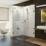 Drzwi prysznicowe ze ścianką stałą 110x80x195 BSDPS-110/80 L Ravak BRILLIANT 0ULD4A00Z1