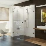 Drzwi prysznicowe ze ścianką stałą 80x195 Ravak BRILLIANT 0UL44A00Z1