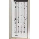 Drzwi skrzydłowe 100 cm, Sanplast FREE 600-260-0340-42-211 cm/sbW16
