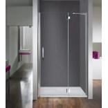 Drzwi skrzydłowe 80 cm ze ścianką stałą, prawe, profil chrom, szkło W0 Sanplast AVANTGARDE IV 600-084-0630-42-401