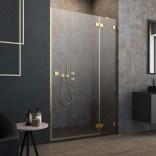 Drzwi wnękowe 100x200 Radaway ESSENZA PRO GOLD DWJ 10099100-09-01R złote/prawe
