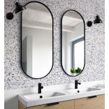Duże lustro czarne 60x125 Giera Design AMBIENT SLIM AMB/SL/B/60x125
