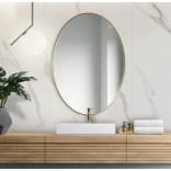 Duże lustro owalne 80x120 Giera Design SCANDI SLIM SCO/SL/G/80x120 złote