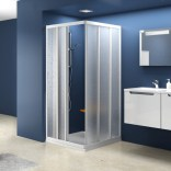 Element kabiny prysznicowej kwadratowej ASRV3-90 Ravak SUPERNOVA 15V70102ZG białej+grape