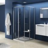Element kabiny prysznicowej kwadratowej SRV2-80 S Ravak SUPERNOVA 14V40102ZG białej+grape
