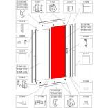 Element ruchomy do drzwi przesuwnych D2/TX5 90 cm, szkło hartowane Sanplast TX 660-E1326
