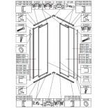 Element ruchomy do kabiny kwadratowej KN-II/EKOPLUS 90 cm, polistyren Sanplast EKO PLUS 660-E1218