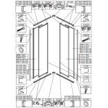 Element ruchomy do kabiny kwadratowej KN-II/EKOPLUS 90 cm, szkło hartowane Sanplast EKO PLUS 660-E1220