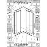 Element ruchomy do kabiny kwadratowej KN-II/EKOPLUS, MP/EKOPLUS 80 cm, szkło hartowane Sanplast EKO PLUS 660-E1219