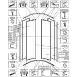 Element ruchomy polistyren do kabiny półokrągłej OV-KP4-II/EKO Sanplast EKOPLUS 660-E1221