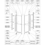 Element ruchomy prawy do kabin Sanplast KP2-PRIIa/EX, KP4-PRIIa/EX 80 cm, szkło hartowane Sanplast PRESTIGE II 660-E0619