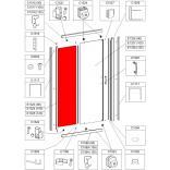 Element stały do drzwi przesuwnych D2/TX5 90 cm, szkło hartowane Sanplast TX 660-E1323