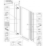 Element stały do drzwi skrzydłowych DJ2/FREE 100 cm, szkło hartowane W0 Sanplast FREE LINE 660-E1311