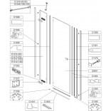 Element stały do drzwi skrzydłowych DJ2/FREE 90 cm, szkło hartowane W0 Sanplast FREE LINE 660-E1275