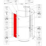 Element stały do kabiny KPP-AVIII/EX, szkło hartowane Sanplast AVANTGARDE III 660-E1137