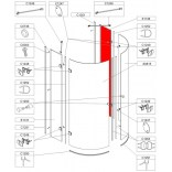 Element stały do kabiny KPP-AVIII/EX, szkło hartowane Sanplast AVANTGARDE III 660-E1138
