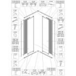 Element stały do kabiny kwadratowej KN-II/EKOPLUS 80 cm, polistyren Sanplast EKO PLUS 660-E0967