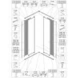 Element stały do kabiny kwadratowej KN-II/EKOPLUS 90 cm, polistyren Sanplast EKO PLUS 660-E0969