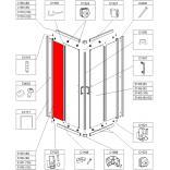 Element stały do kabiny kwadratowej KN/TX5 80 cm, szkło hartowane Sanplast TX 660-E1353