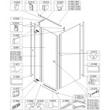 Element stały do kabiny kwadratowej KNDJ2/FREE 80 cm, szkło hartowane Sanplast FREE LINE 660-E1314