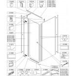 Element stały do kabiny kwadratowej KNDJ2/FREE 90 cm, szkło hartowane Sanplast FREE LINE 660-E1315