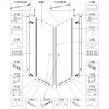 Element stały do kabiny prysznicowej 80 cm, szkło hartowane Sanplast FREE LINE 660-E1272