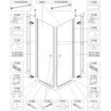 Element stały do kabiny prysznicowej 90 cm, szkło hartowane Sanplast FREE LINE 660-E1273