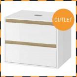 Excellent TUTO Szafka pod umywalkę nablatową 60x49,4 MLEX.0104.600.WHBL biała/dąb 2 szuflady POWYSTAWOWA
