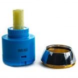 Głowica baterii wannowo-natyrskowej i natryskowej Elio z pierścieniem Cersanit S951-076
