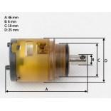 Głowica ceramiczna 25 mm do baterii ELYS: 070, 080, 130,133 Paffoni / Fonte ZA 91180