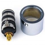Głowica termostatyczna + pierścień do baterii z serii CUADRO-TRES Tres 299.250.55