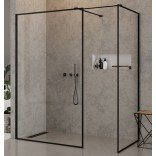 Kabina Walk-In 140x100x200 New Trendy NEW MODUS BLACK EXK-0120