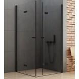 Kabina kwadratowa 80x80x195 New Trendy NEW SOLEO BLACK 2D D-0234A/D-0238A