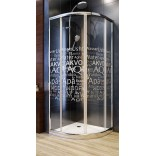 Kabina półokrągła 90X90X185 szkło water Aquaform NIGRA 100-40062