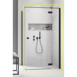 Kabina prysznicowa FRONT 110x200 Radaway ESSENZA NEW BLACK KDJ 385041-54-01R prawa czarna