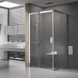 Kabina prysznicowa MSRV4-100/100 Ravak MATRIX 1WVAA100Z1 biała + transparent