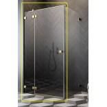 Kabina prysznicowa front 80x200 Radaway ESSENZA PRO GOLD KDJ 10097080-09-01L złota/lewa