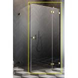 Kabina prysznicowa front 80x200 Radaway ESSENZA PRO GOLD KDJ 10097080-09-01R złota/prawa