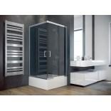 Kabina prysznicowa kwadratowa 80x80x165 Besco MODERN MK-80-165-G szkło grafitowe