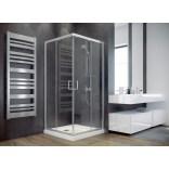 Kabina prysznicowa kwadratowa 80x80x185 Besco MODERN MK-80-185-G szkło grafitowe