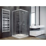 Kabina prysznicowa kwadratowa 80x80x185 Besco MODERN MK-80-185-M szkło mrożone