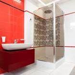 Kabina prysznicowa kwadratowa 90 cm Omnires OMNIRES S-90K szkło brązowe