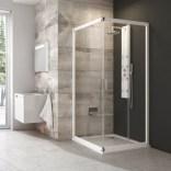 Kabina prysznicowa narożna BLRV2-90 biały+transparent Ravak BLIX 1LV70100Z1