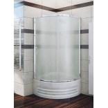 Kabina prysznicowa półokrągła 75x165 cm drzwi przesuwne, szkło perła 6 mm New Trendy OPTIMA K-0064